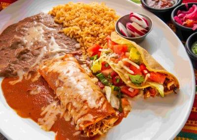 Combo Taco and Burrito